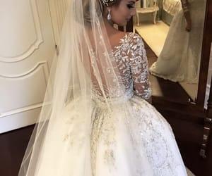 beauty, dress, and wedding image