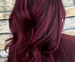 burgundy, colored hair, and hair image