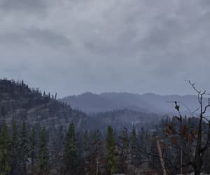 cloudy, fallout, and landscape image