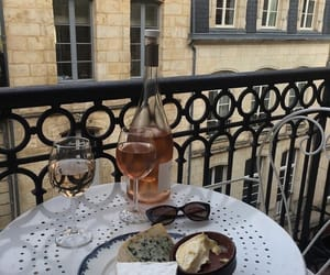 food, paris, and wine image