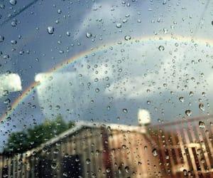 aesthetic, rain, and cute image
