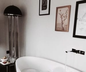 interior, bathroom, and bathtub image