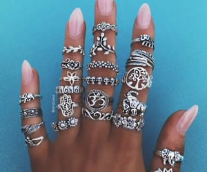 bohemian, rings, and sterling silver image