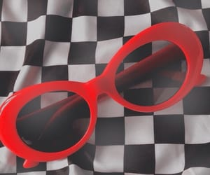 red, aesthetic, and sunglasses image
