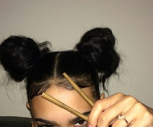 hair, weed, and blunt image