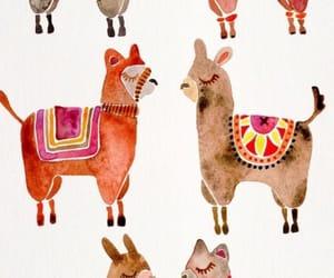 alpaca, background, and llama image