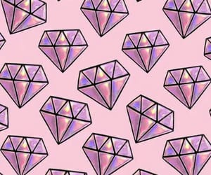 wallpaper, diamond, and pink image