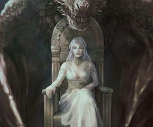 dragon, fantasy, and girl image