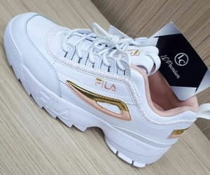 Fila, pink, and gold image