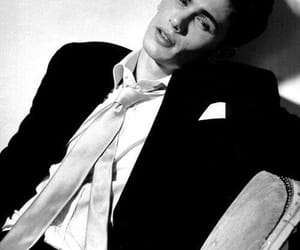 actor, young, and black and white image