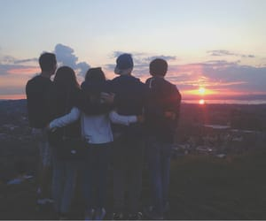 friends, girl, and boys image