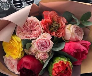 flowers, bouquet, and fashion image