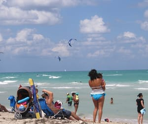 clouds, family, and Miami Beach image