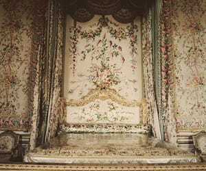 bed, versailles, and vintage image