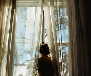 girl, window, and photography image