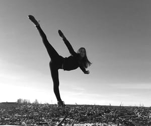 adventures, black&white, and girl image