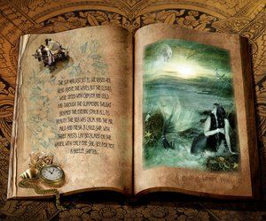 art, book, and fantasy image