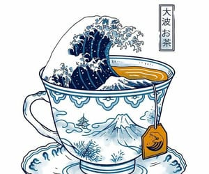hokusai, illustration, and japan image