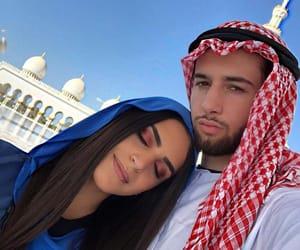 couple, abu dhabi mosque, and lové image