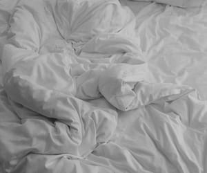 bed, white, and sheets image