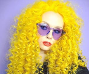 hairinspo, yellowhair, and unicornhair image