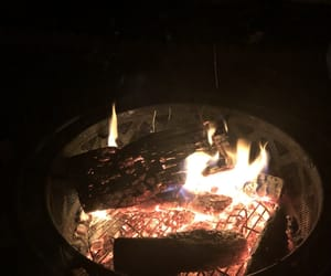 bonfire, fire, and marshmallows image