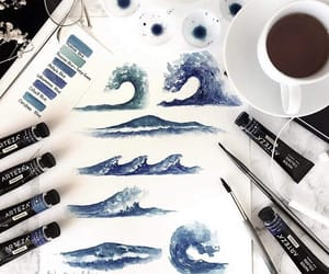 art, creative, and blue image