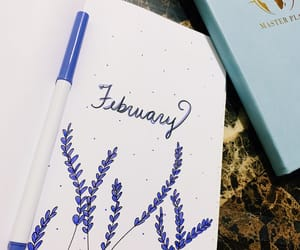 february, lavender, and bullet journal image