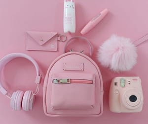 pink, bag, and camera image