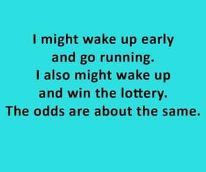 aqua blue, wake up early, and go running image