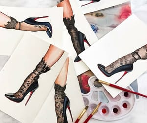 art, illustration, and shoes image