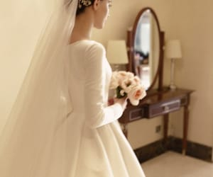 bride, gorgeous, and wedding image
