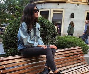 bench, girl, and lifestyle image