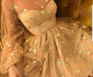 dress, stars, and fashion image