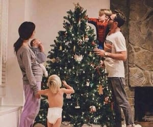 christmas tree, family, and goals image