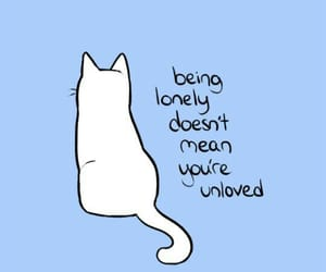 cat, blue, and quotes image