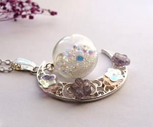 beautiful, silver necklace, and gift for women image