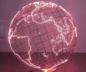 pink, world, and neon image