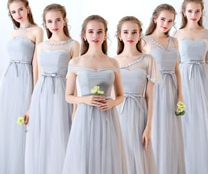 girl, wedding party dress, and discount dress image