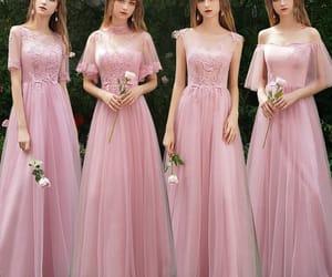 girl, bridesmaid dress, and wedding party dress image