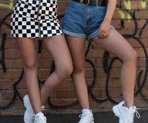 aesthetic, legs, and denim shorts image