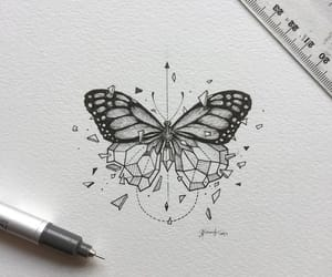 butterfly, drawing, and art image