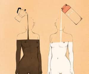 art, body, and milk image