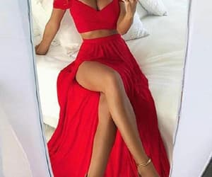 prom dresses, prom dress chiffon, and prom dress red image