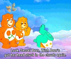 aesthetic, love, and care bear image