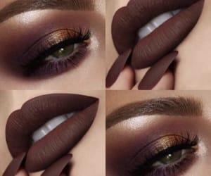 makeup, brown, and beauty image