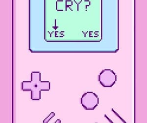 cry, sad, and gameboy image