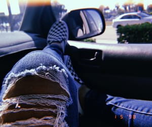 aesthetic, ripped jeans, and style image