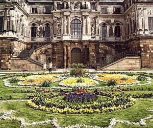castle, travel, and dresden image