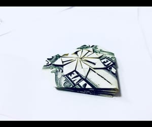 art, dollar, and origami image